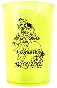 Copos de Acrílico Personalizados Ana Paula e Leonardo