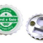 Abridor tampa personalizado para chá bar