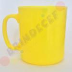 Caneca de Café Amarelo Claro