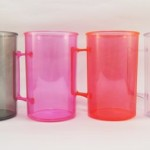 Canecas de acrilico de 400 ml Fume, Rosa, Alaranjada e Transparente para personalizar