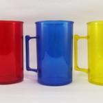 Canecas de acrilico 400 ml Vermelha, Azul, Amarela para personalizar