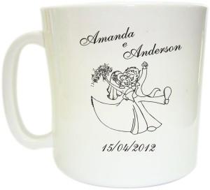 Canecas de café personalizadas Amanda e Anderson
