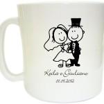 Canecas de café personalizadas Keila e Giuliano