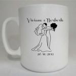 Canecas de café personalizadas Viviane e Norberto
