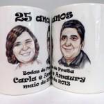 Canecas de porcelana personalizadas para bodas
