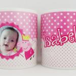 Canecas de porcelana personalizadas Isabela
