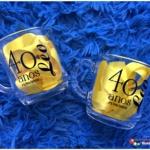 Canecas de vidro aspen Leo 40 anos
