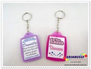 Chaveiros de acrilico personalizados para debutantes