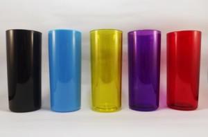 Copos para personalizar Preto, Azul, Amarelo, Violeta, Vermelho