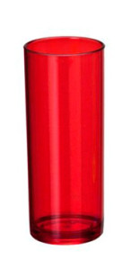 Copos long drink vermelho para personalizar