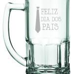 Canecas de vidro jateadas Bristol Feliz Dia dos Pais