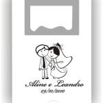 Abridor furo personalizado Aline e Leandro