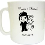 Canecas de café personalizadas Stenio e Izabel