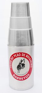 Porta garrafa térmica de alumínio ref 02