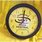 Relógios de parede personalizados redondo preto Nova Central