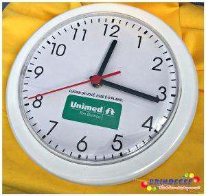 Relógios de parede personalizados redondo branco Unimed