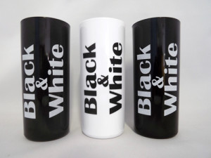 Copos long drink personalizados Black e White