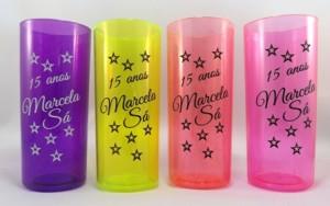 Copos long drink personalizados Marcela