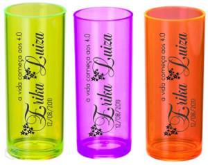 Copos long drink personalizados Erika Luiza