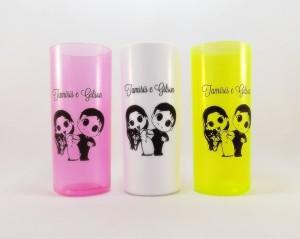 Copos long drink personalizados Tamiris e Gilson
