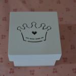 Caixinhas de MDF caixa bem casado 6 por 6 coroa