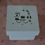 Caixinhas de MDF caixa bem casado 6 por 6 trenzinho