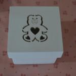 Caixinhas de MDF caixa bem casado 6 por 6 ursinho