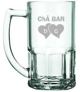 Canecas de vidro jateadas Bristol Chá bar D e G