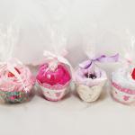 Cupcake de toalha e sabonete artesanal para lembrancinha