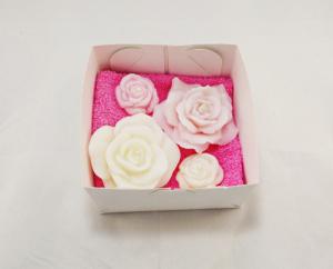 Sabonete artesanal flores para lembrancinha