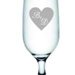 Taças de vidro jateadas de cerveja floripa B e D