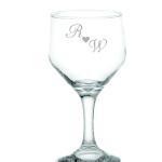 Taças de vinho branco jateadas bristô R e W