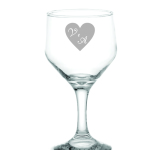 Taças de vidro jateadas vinho branco bristo V e A