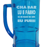 Canecas de Chopp Personalizadas Lu e Fábio