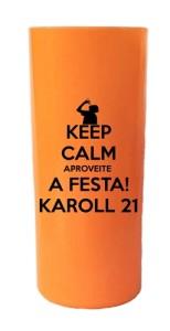 Copos long drink laranja opaco neon Karoll
