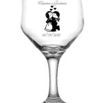 Taças de vidro bistrô 181ml Vinho Branco Maiara e Gustavo
