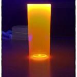 Copos long drink laranja neon