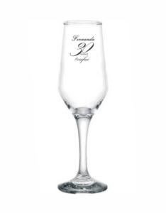 Taças de vidro bistrô champanhe 185ml Fernanda 30 anos