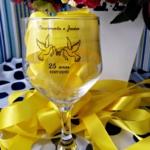 Taças de vidro bistrô 181ml para casamento