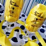 Taças de vidro personalizadas para aniversário