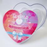 Bomboniere Transparente Coração Personalizada