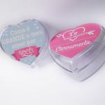 Mini bomboniere coração personalizada