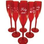 Taças de champagne personalizadas para lembrancinhas