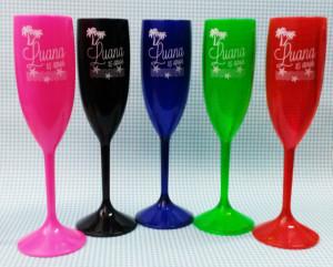Taças de acrilico personalizadas Luana