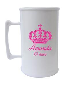 Canecas de acrilico personalizadas Amanda 19 anos
