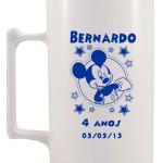 Canecas de acrilico personalizadas Bernardo 4 anos