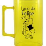 Canecas de acrilico personalizadas 1 ano do Felipe