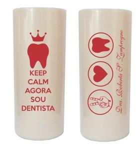 Copos long drink personalizados para formatura de dentista