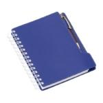 Agenda wire-o de mesa com suporte para caneta capa azul 288L