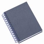 Agenda wire-o metalizada lisa azul 281L
